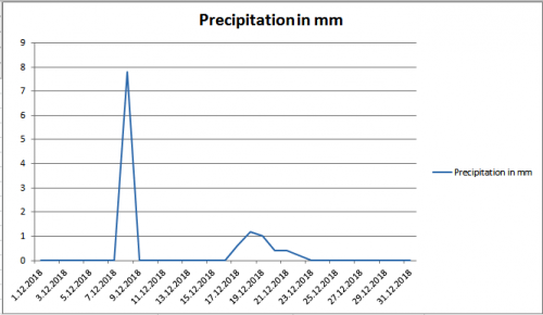 Precipitation december Maribor 2018